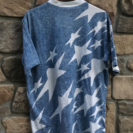 vintage denim shooting stars usa soccer 1994 world cup t shirt