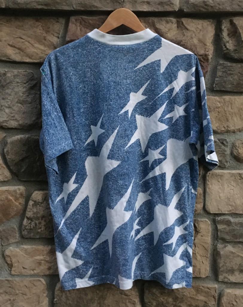 399ce7f63b6 1994 USA Men s Soccer World Cup Denim Adidas T Shirt Size Large ...