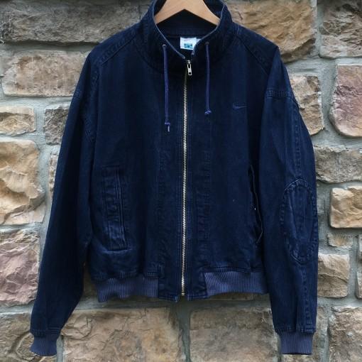 90's Nike Challenge Court Agassi acid wash denim bomber jacket