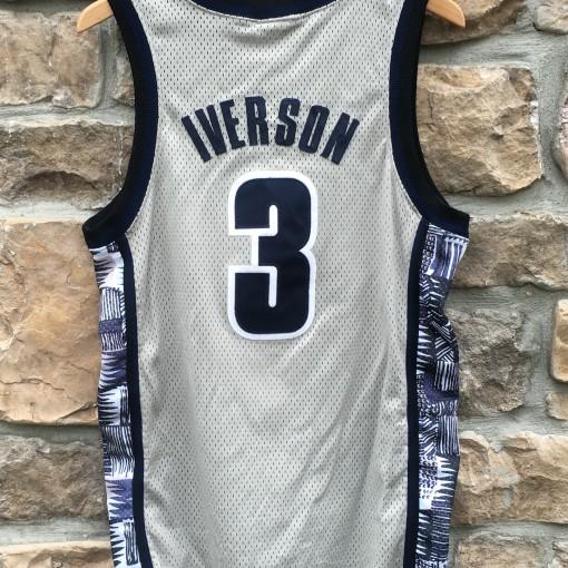 vintage allen iverson georgetown hoyas authentic nike grey jersey