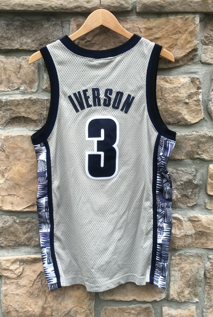 best sneakers 11858 db275 1996 Allen Iverson Georgetown Hoyas Authentic Nike NCAA Jersey Size 40