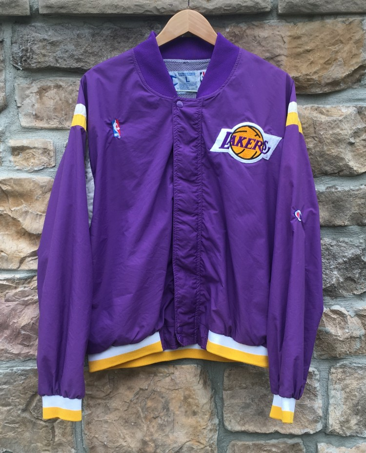 80 s Los Angeles Lakers Champion NBA Warm Up Jacket Size Large ... a31b13425