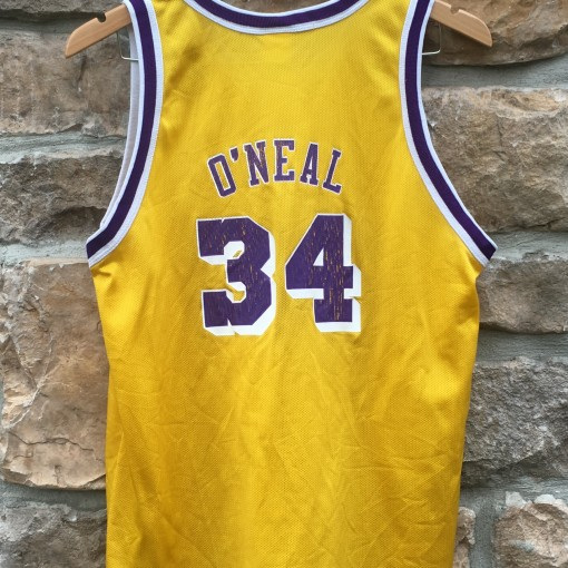 vintage 90's Shaquille O'neal LA lakers champion jersey