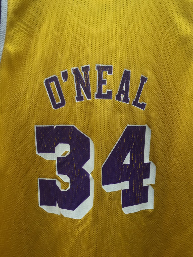 ec43cec0ccff 1996 Shaquille O Neal Los Angeles Lakers Champion NBA Jersey Youth ...