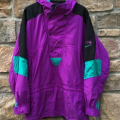 vintage 90's The North Face Extreme jacket aqua purple