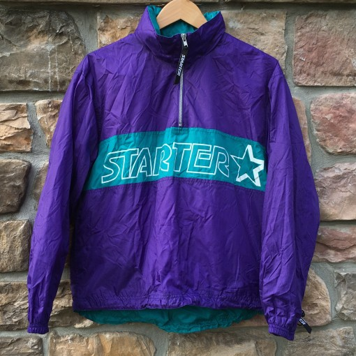 vintage 90's Starter purple aqua windbreaker jacket