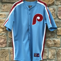 vintage Philadelphia Phillies powder blue 70's majestic cooperstown collection jersey