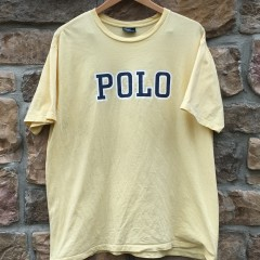 vintage polo ralph lauren 90's spell out t shirt