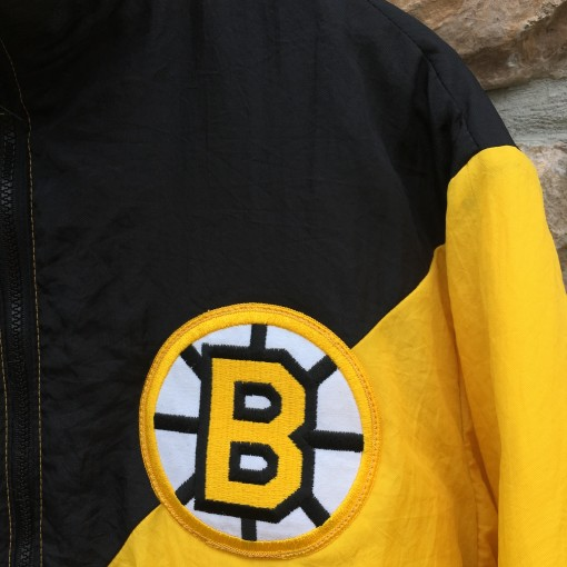 vintage 80's Boston Bruins Colorblock NHL jacket