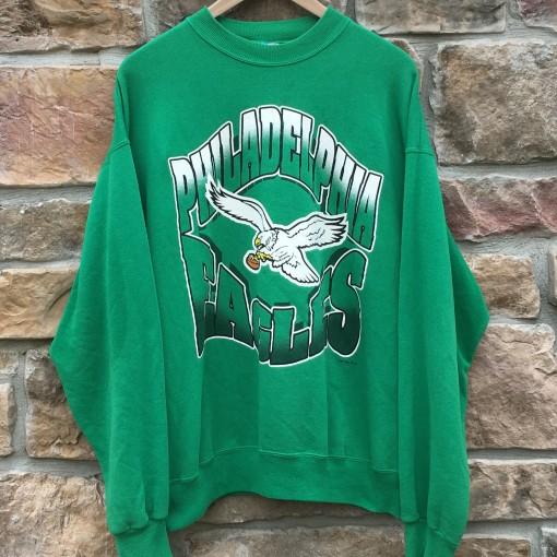vintage 90's Philadelphia Eagles Kelly Green NFL crewneck sweatshirt