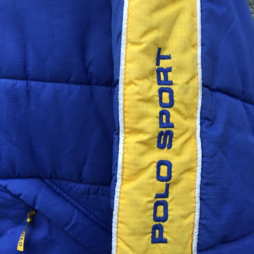 vintage 90's Polo Sport jacket size small blue yellow