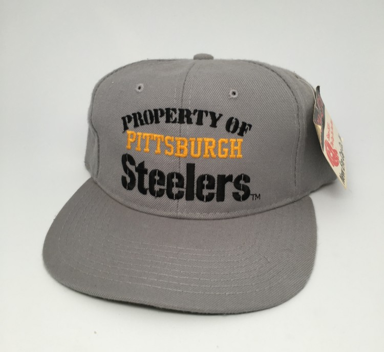 9d4069238 vintage new era property of pittsburgh steelers NFL snapback hat