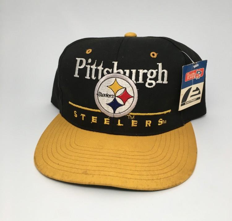 12c4eeb54aa 90 s Pittsburgh Steelers Eastport NFL Snapback Hat