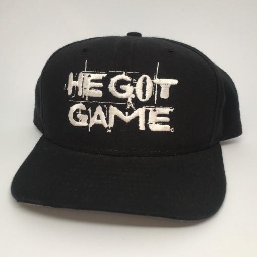 vintage original 1998 He Got Game new era movie promo snapback hat spike lee