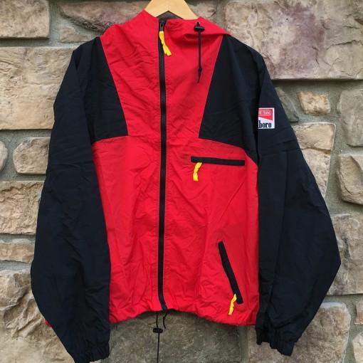 vintage 90's Marlboro adventure team windbreaker jacket size large
