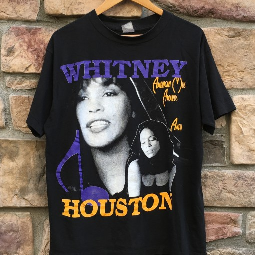 vintage 1992 whitney houston I will always love you t shirt size xl