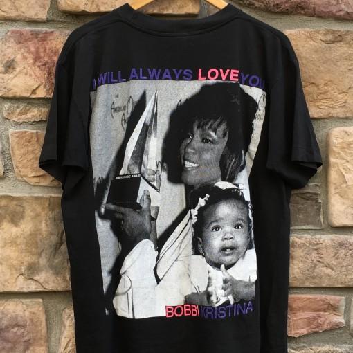 vintage whitney houston I will always love you american music awards t shirt