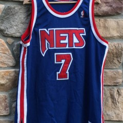 vintage 90's Authentic Kenny Anderson New jersey nets champion jersey size 48