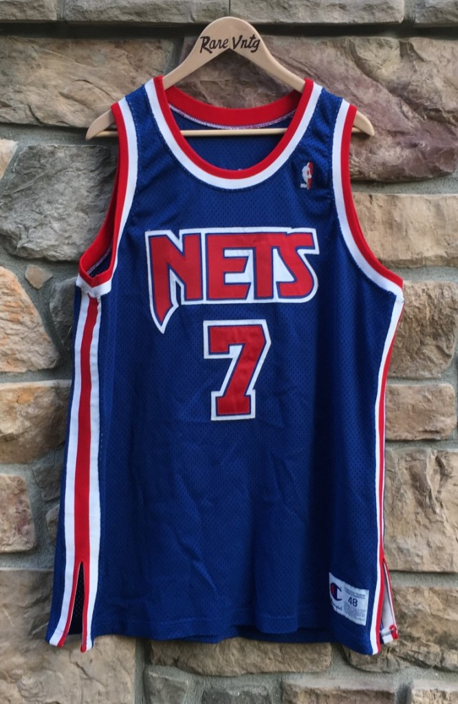 7398138b3 vintage 90 s Authentic Kenny Anderson New jersey nets champion jersey size  48