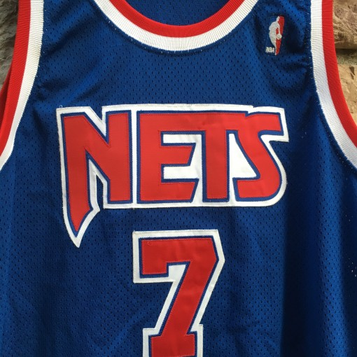 authentic Champion New Jersey Nets Kenny Anderson jersey