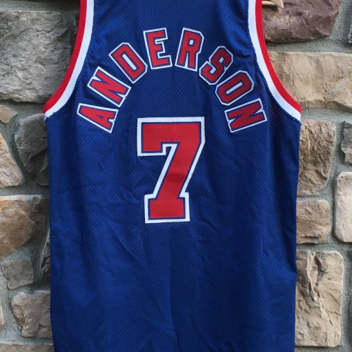 kenny anderson authentic new jersey nets jersey size 48