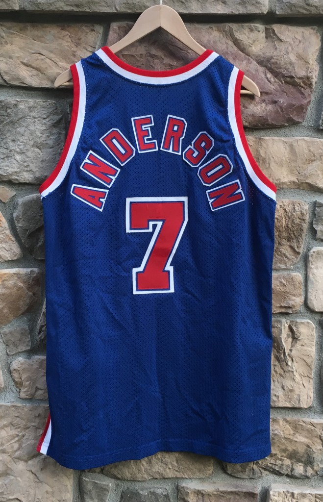 df14003c1 size 48 Champion authentic NBA jersey. kenny anderson authentic new jersey  nets jersey size 48