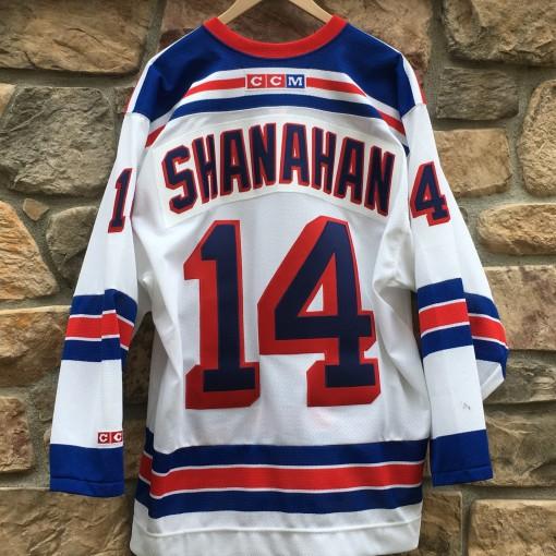 vintage Brendan Shanahan New York Rangers CCM NHL jersey size large