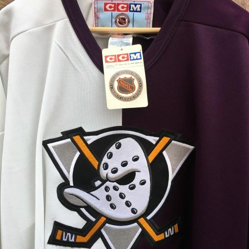 vintage deadstock 90's Anaheim Mighty Ducks Split NHL jersey