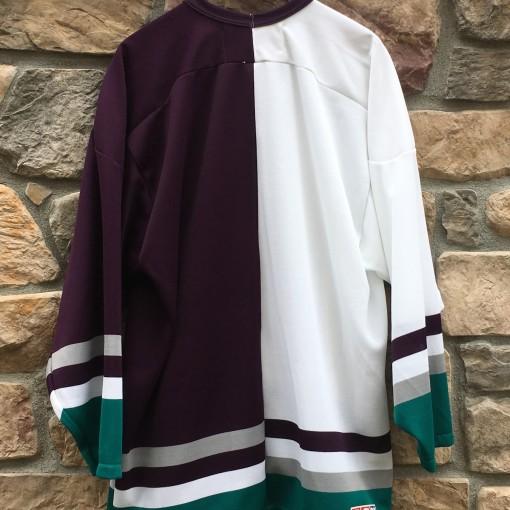 vintage 90's Split half and half anaheim mighty ducks CCM NHL jersey