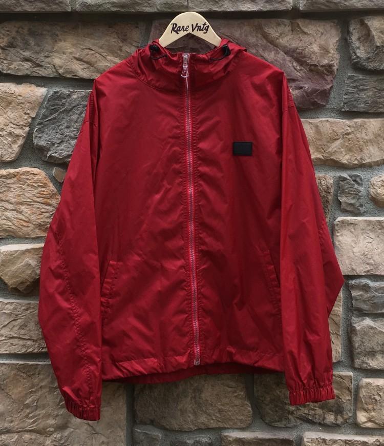 d07d49e4 90's Tommy Hilfiger Red Windbreaker Jacket Size Large | Rare Vntg