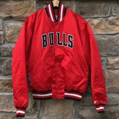 vintage 90's Chicago Bulls Starter satin jacket size XL