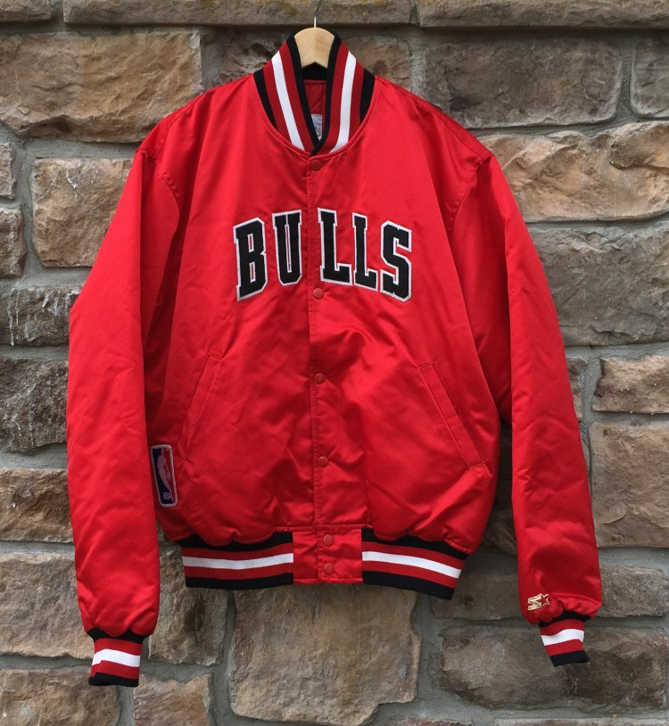 90's Chicago Bulls Starter NBA Satin Jacket Size XL