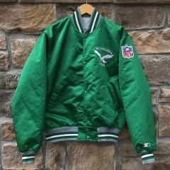 vintage 90's kelly green Philadelphia Eagles Starter satin jacket size large