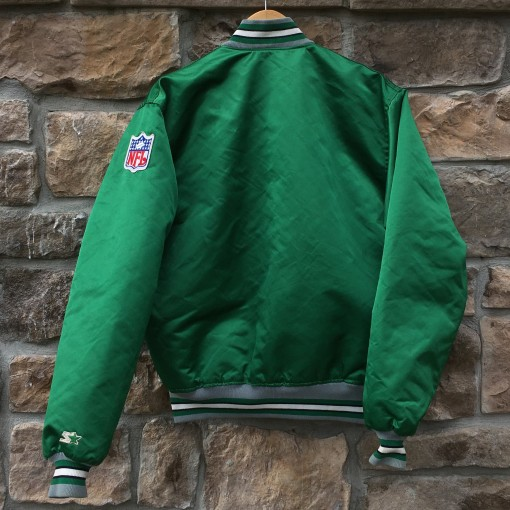 vintage philly eagles starter satin jacket