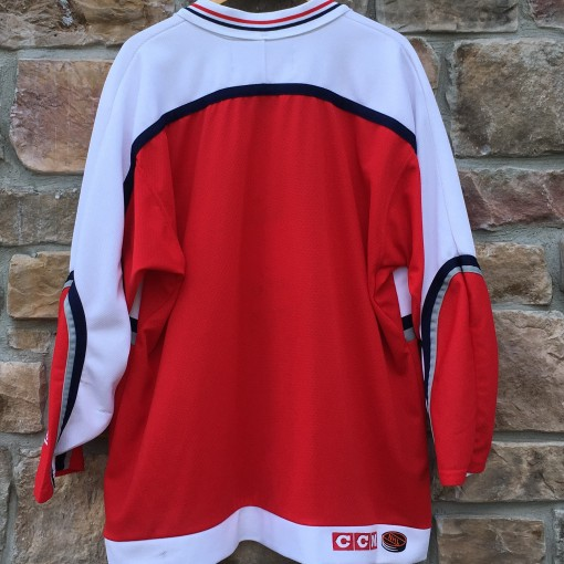 2001 World Conference NHL All Star jersey red