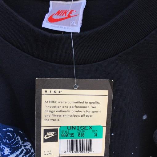 deadstock 90's Nike Grey white tag michael jordan t shirt