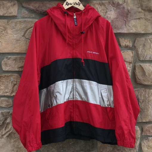 vintage 90's Polo Sport color block spell out windbreaker jacket size XXL