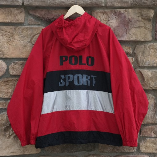 vintage 90's Polo sport color block spell out jacket size XXL