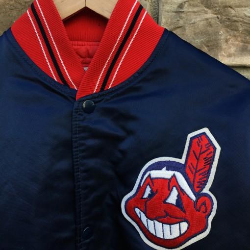 vintage cleveland indians starter satin jacket