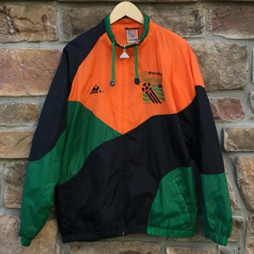 vintage 1994 world cup ireland windbreaker jacket apex