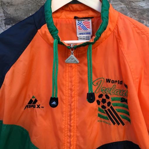 vintage 1994 World Cup Ireland Apex one soccer windbreaker jacket