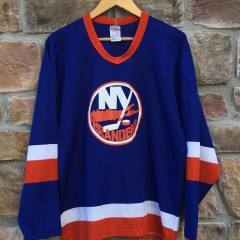 vintage 80s New York Islanders CCM replica NHL jersey size xl large