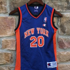 vintage allan houston new york knicks champion NBA jersey youth size small
