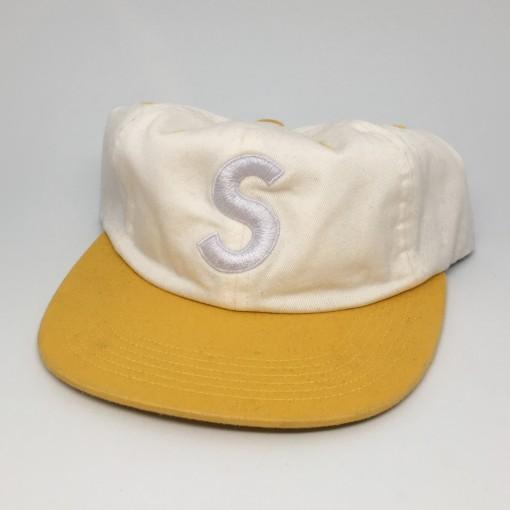 spring summer 2016 Supreme New York S logo hat white yellow