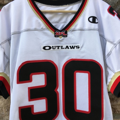 authentic Champion Las Vegas outlaws he hate me white jersey
