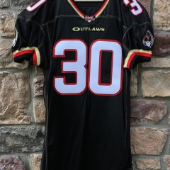 pro cut authentic champion rod smart he hate me las vegas outlaws black xfl jersey