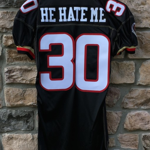 vintage He Hate Me Rod Smart Las Vegas Outlaws black XFL authentic jersey for sale