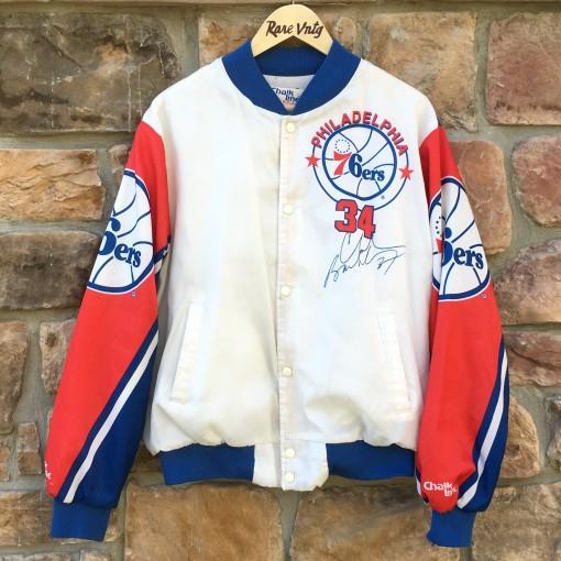 vintage 90's Charles Barkley Philadelphia Sixers Chalkline fanimation jacket size large