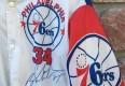 size large vintage Charles Barkley Philadelphia Sixers Chalkline fanimation jacket