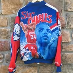 vintage 90's Chalkline Charles Barkley Fanimation jacket